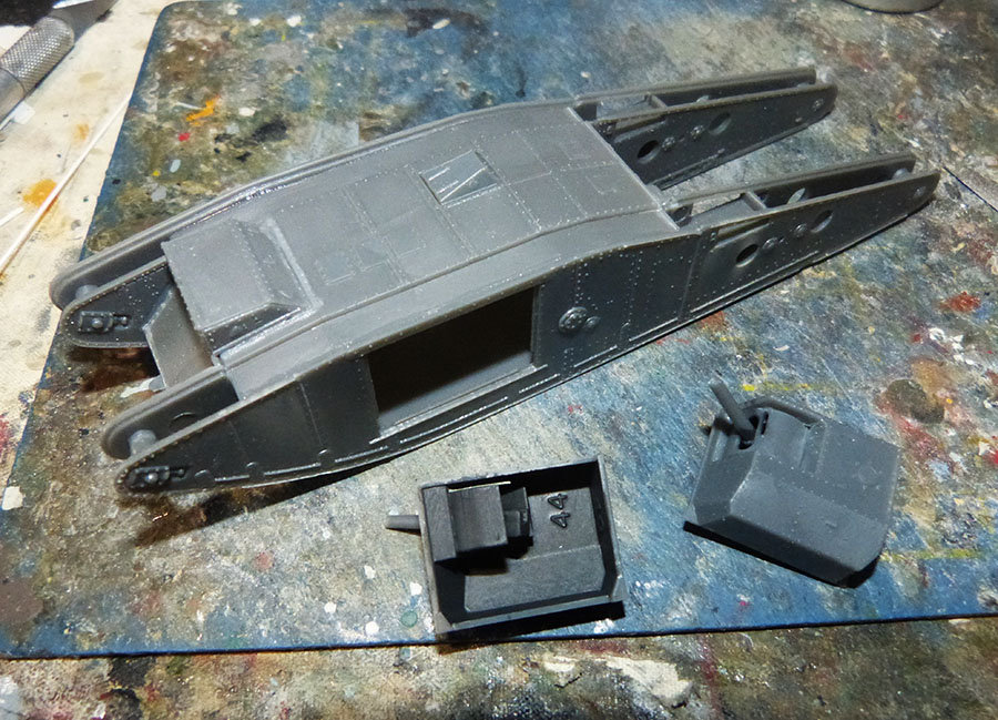 """From the box - Char Mk IV """"Tadpole"""" - Emhar - 1/72 *** Terminé en pg 2 201130120442560456"""