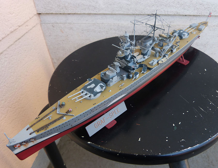 Croiseur lourd ADMIRAL GRAF SPEE Rio de La Plata 1939... Réf 81046 - Page 2 201201114652641165