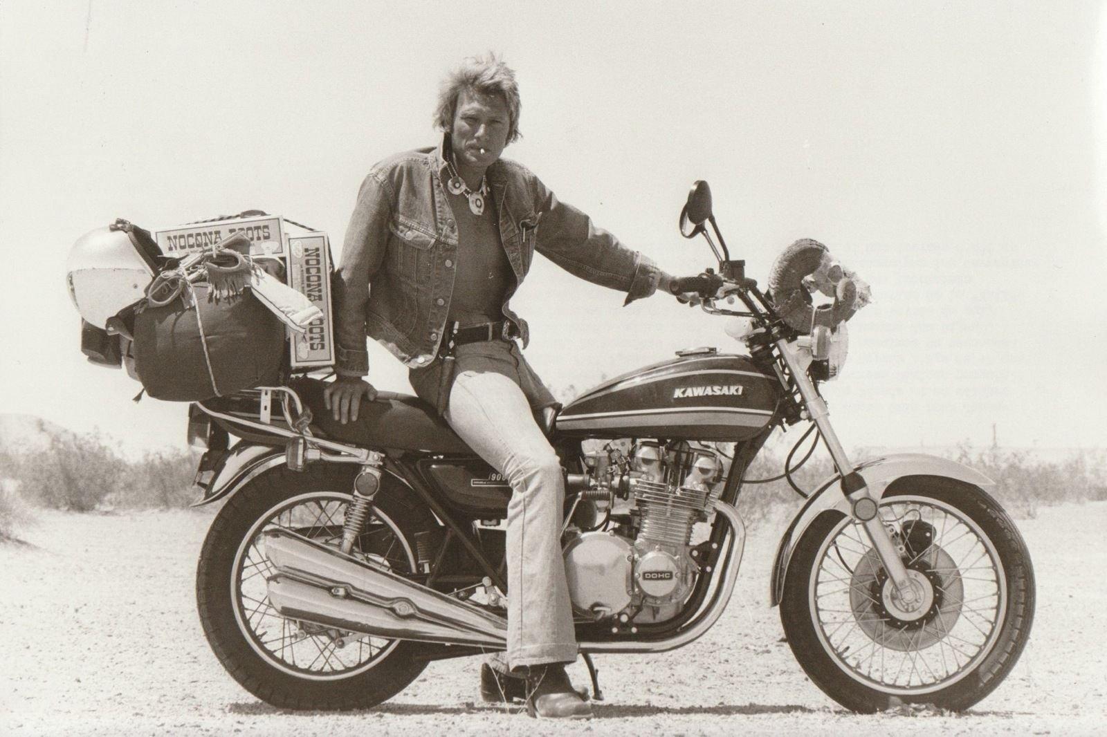 KAWASAKI 900 Z1 DE JOHNNY HALLYDAY ( 1974 ) 201205081948607480