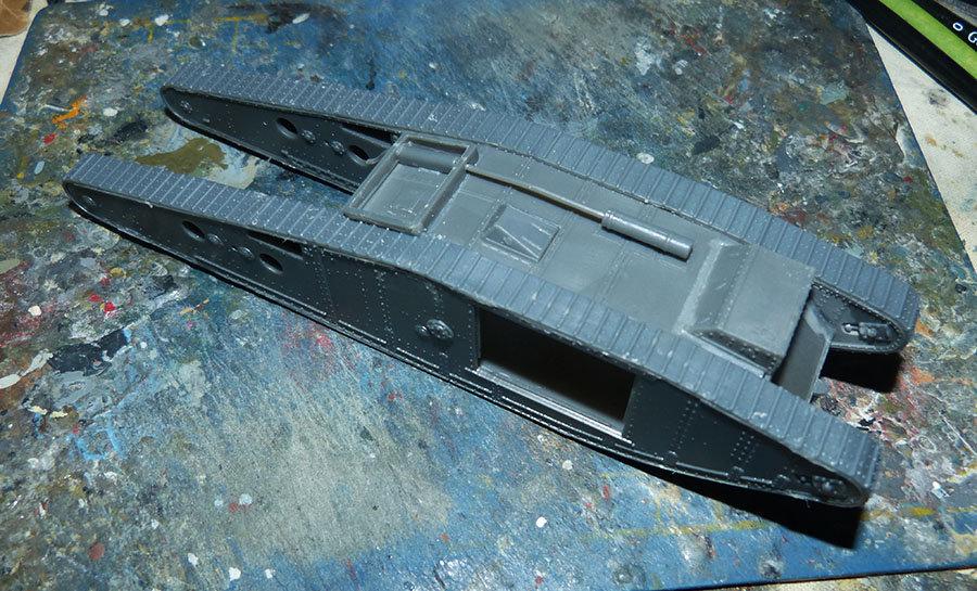 """From the box - Char Mk IV """"Tadpole"""" - Emhar - 1/72 *** Terminé en pg 2 20121307322929185"""