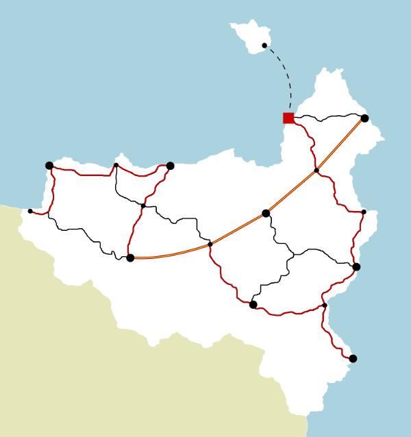 Carte des principales routes de Varanya