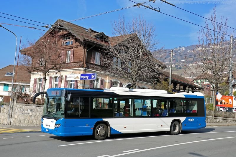 B SCANIA CITYWIDE-12 N°XXX VEVEY FUNICULAIRE