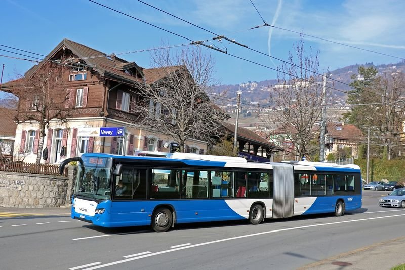 B SCANIA CITYWIDE-18 N°701 VEVEY FUNICULAIRE