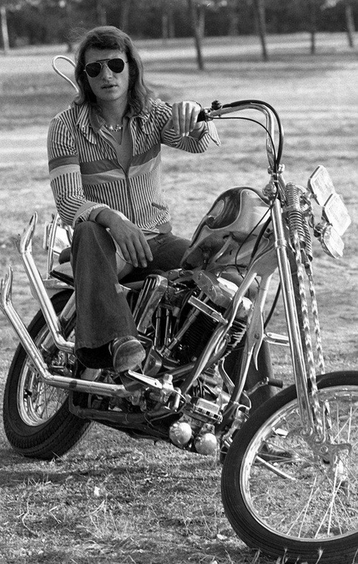 CHOPPER ( MOTEUR HARLEY SHOVELHEAD ) DE JOHNNY HALLYDAY ( 1971 ) 20123109411215601