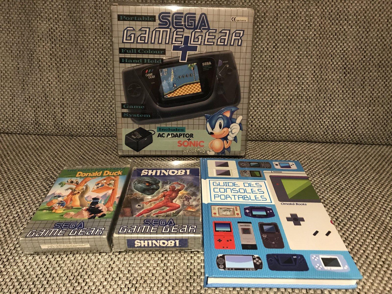 (VENDUE) Game Gear Pack Sonic Uk + Jeux + Cadeau 210105060728869900