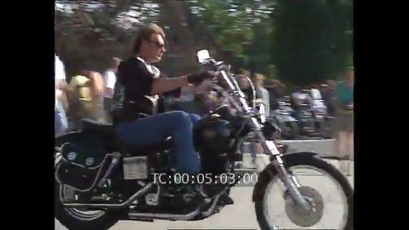 HARLEY-DAVIDSON FXWG WIDE GLIDE 85 DE JOHNNY HALLYDAY ( 1989 ) 210107112731318902