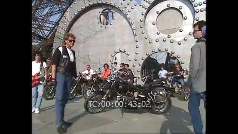 HARLEY-DAVIDSON FXWG WIDE GLIDE 85 DE JOHNNY HALLYDAY ( 1989 ) 210107112731806719