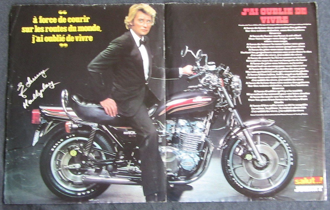 KAWASAKI KZ 1000 LTD DE JOHNNY HALLYDAY ( 1978 ) 210111024215900937
