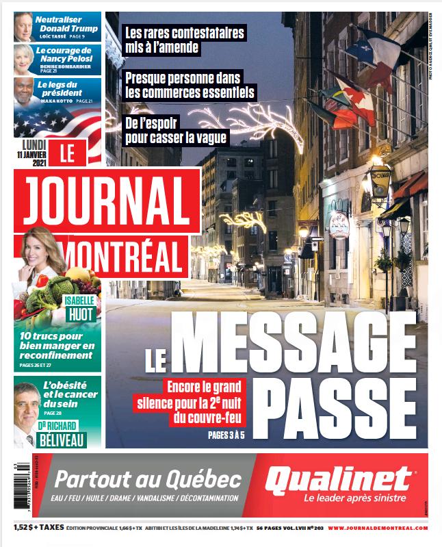 Télécharger Le Journal de Montreal 11 janvier 2021 Fr ...
