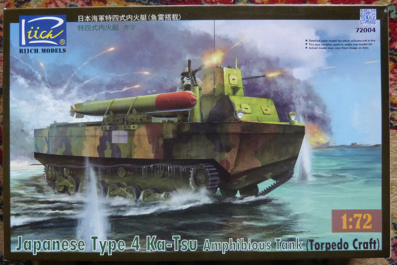 From the box - Char amphibie torpilleur japonais type 4 Ka-Tsu - Riich models - 1/72 *** Terminé en pg 2 210113105848638081