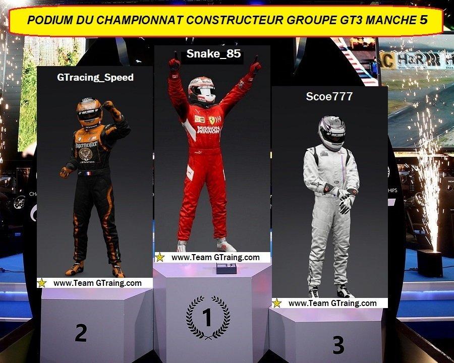 Résultat Manche 5 Championnat Constructeur Groupe GT3 - 13/01/2021 21011408373544138