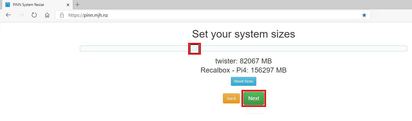 PINN System Resize - Set your system sizes