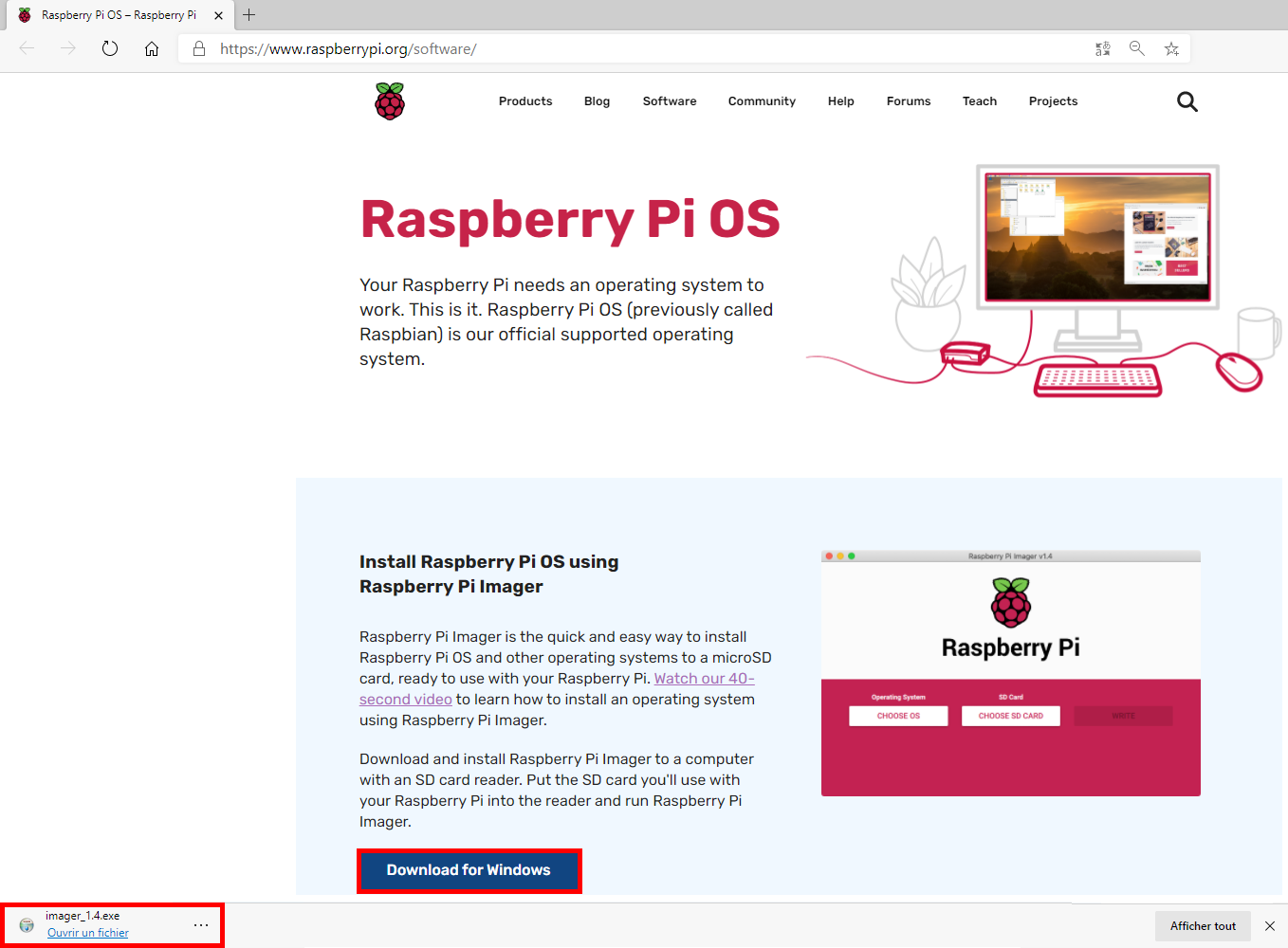 Raspberry Pi Imager - Download