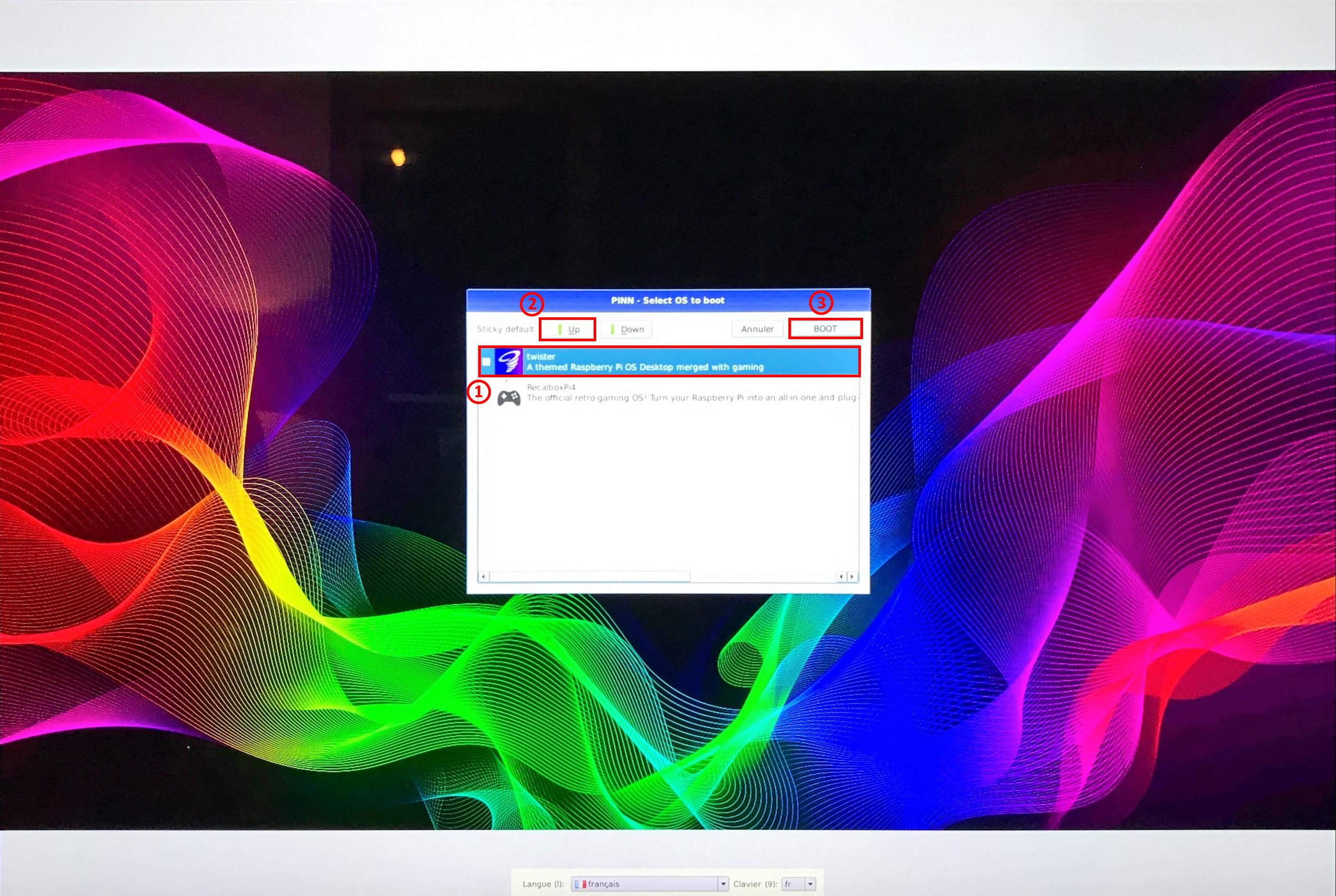 PINN Lite - Select OS to boot - TwisterOS
