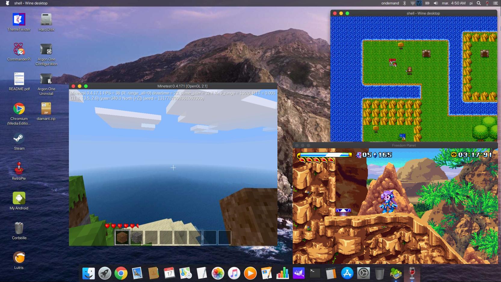TwisterOS - Minecraft Pi Edition & Wine