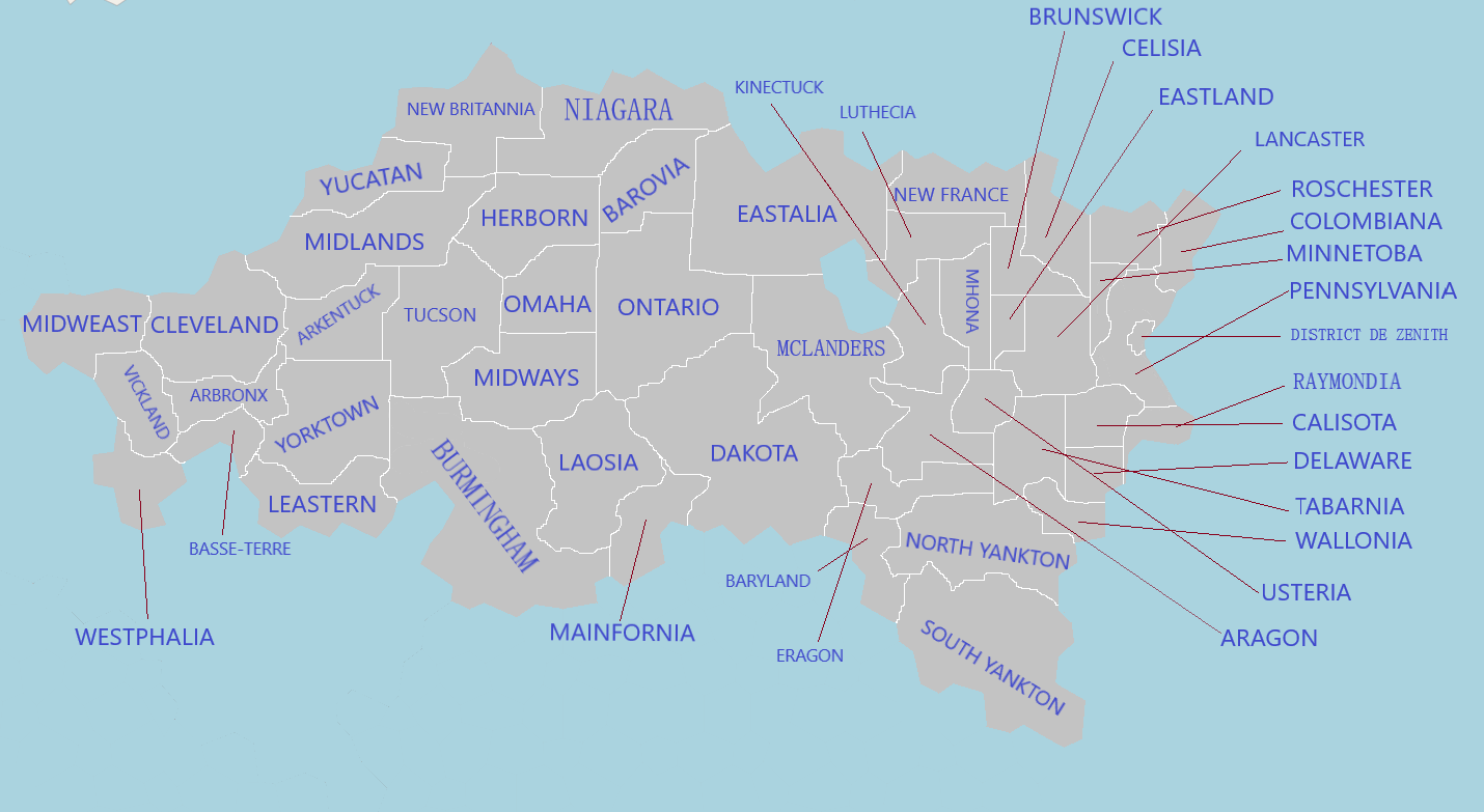 carte des états-régionaux