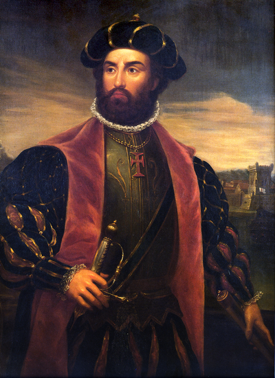Portrait de l'explorateur et navigateur Francisco de Grietta exposé au sein de la gallerie des portraits du Palais des Doges