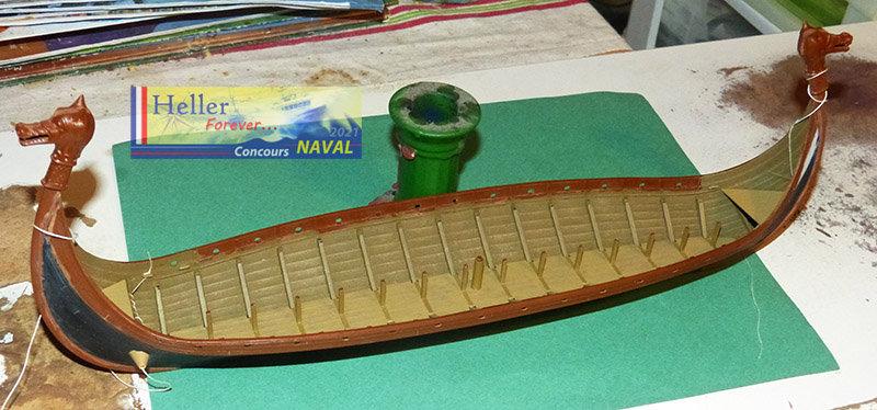 """Navire Amiral """"La Mora"""" de Guillaume Le Conquérant en 1066 1/60ème Réf 80886 - Page 2 210210125842898943"""