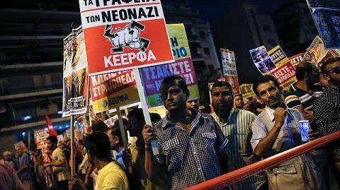 Manifestation à Menophoron pour dénoncer la montée de la xénophobie