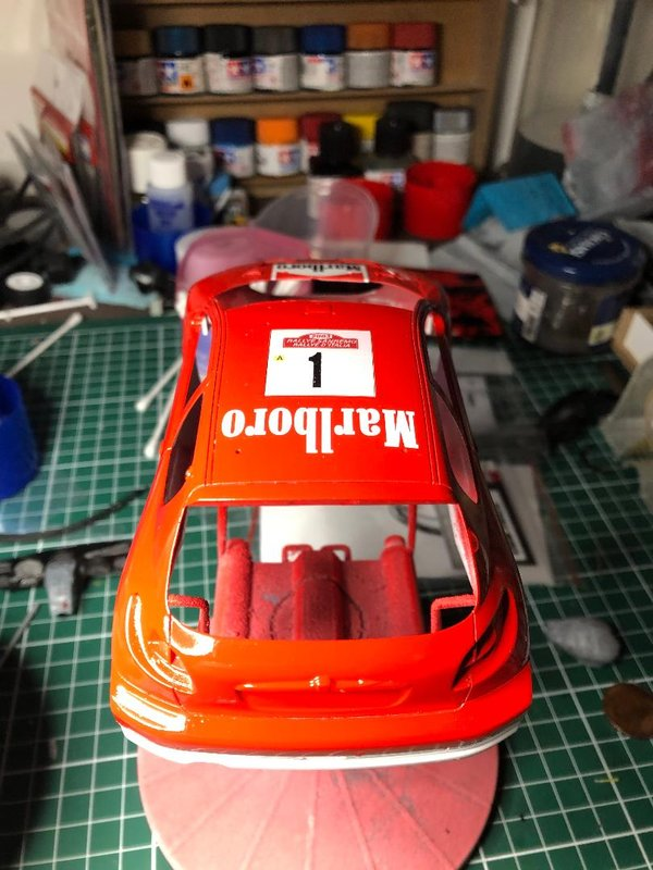 206 WRC 03,Gronholm-Rautianen,  Rallye San Remo, Tamiya 1/24 210215111049938751