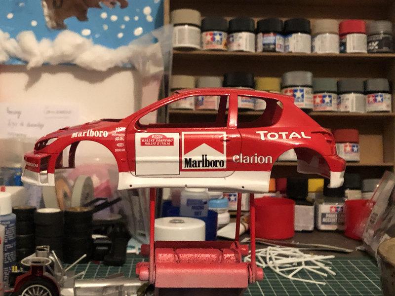 206 WRC 03,Gronholm-Rautianen,  Rallye San Remo, Tamiya 1/24 210216092441608455