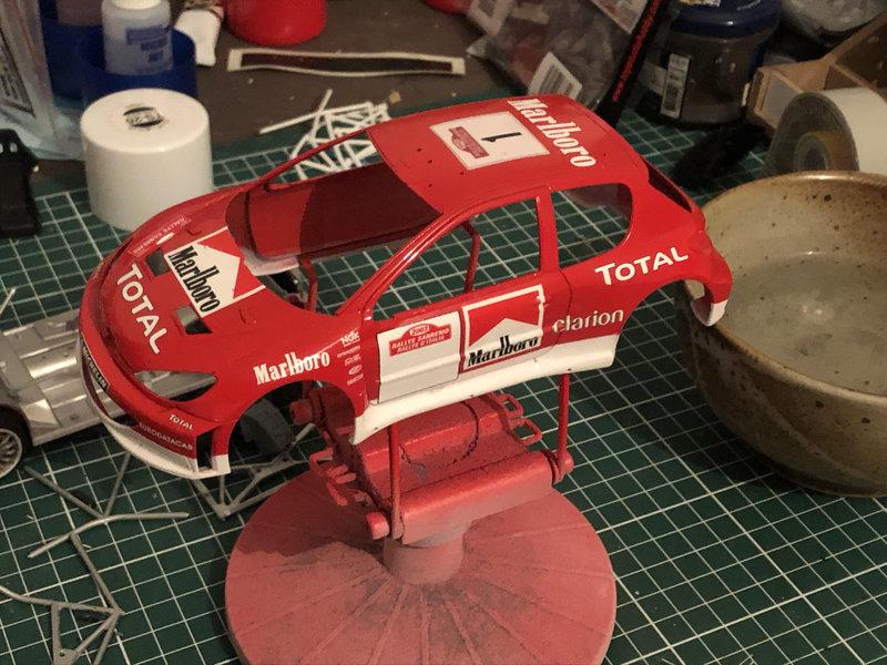 206 WRC 03,Gronholm-Rautianen,  Rallye San Remo, Tamiya 1/24 210216092442446147