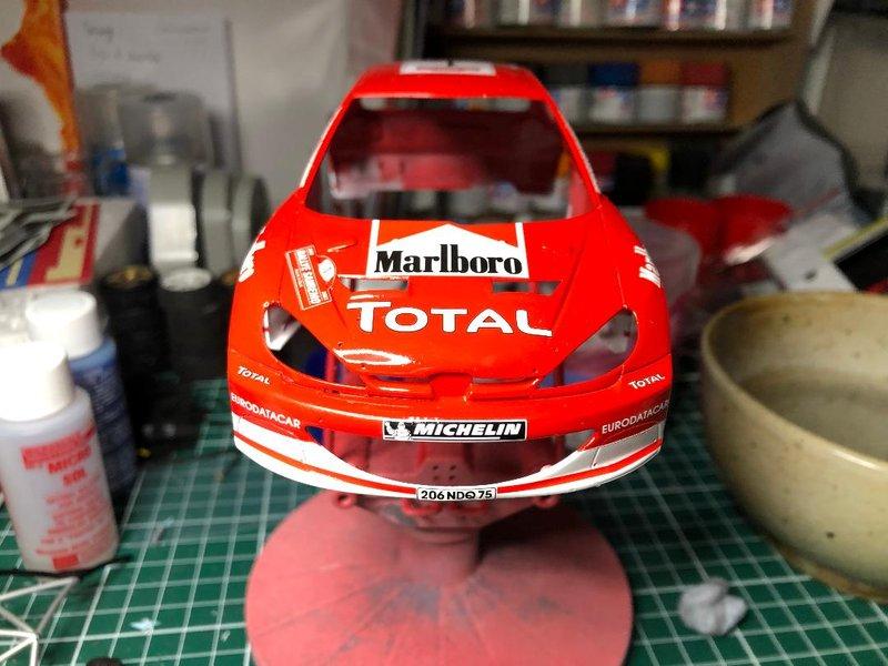 206 WRC 03,Gronholm-Rautianen,  Rallye San Remo, Tamiya 1/24 210218084748203558