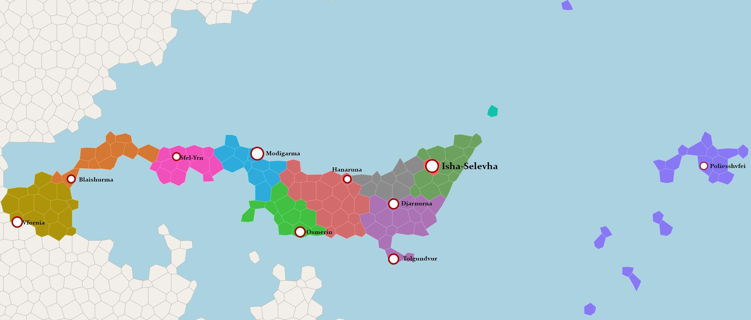 Carte des Cités