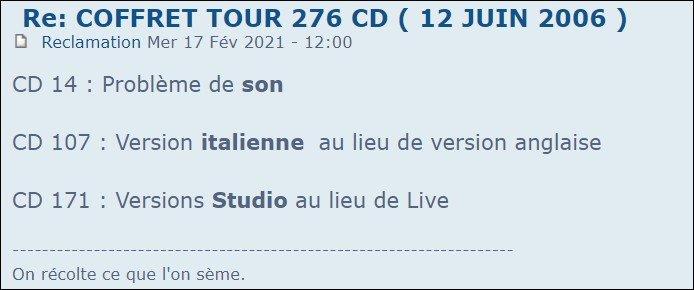 COFFRET TOUR 276 CD  ( 12 JUIN 2006  ) - Page 4 210226124631577678