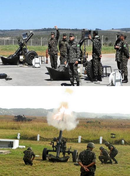 Mortiers M2 MIRCAO de 120 mm en exercice de tirs.