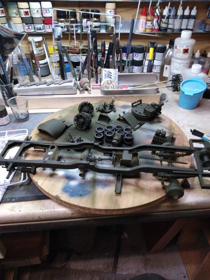 M16 trumpeter première peinture.
