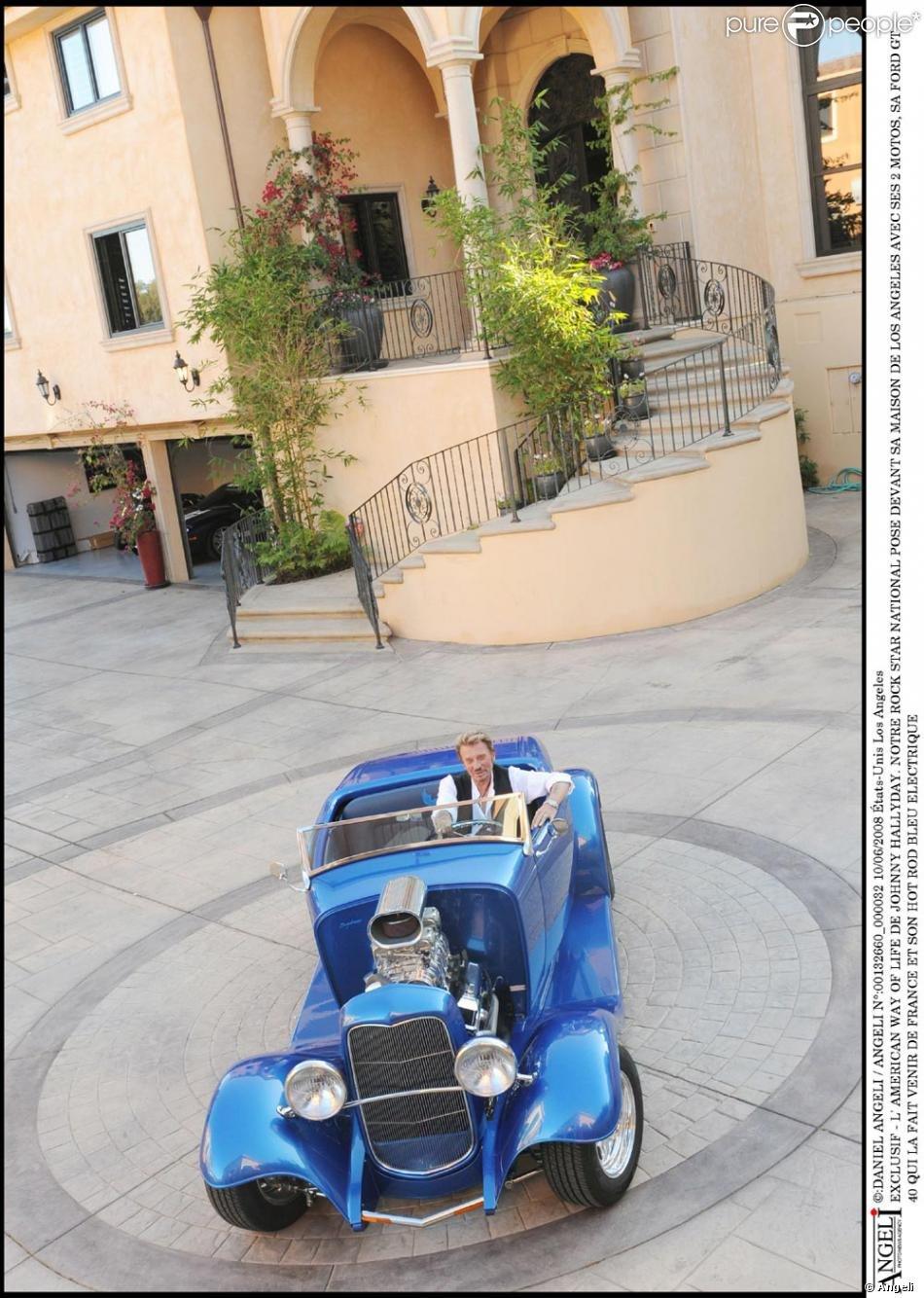 PROPRIETE OU A RESIDE JOHNNY HALLYDAY ( 7/10 ) 'BEVERLY GLEN, LOS ANGELES'( 2007 21030502151320723
