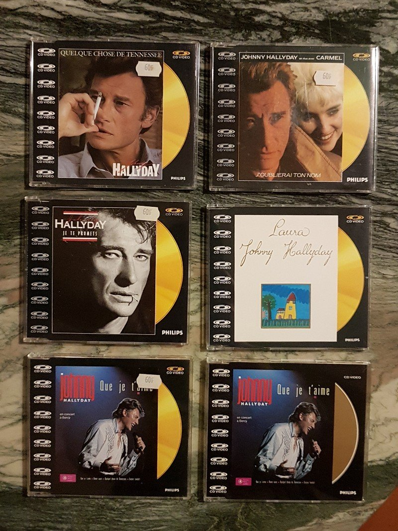 CD VIDEO JOHNNY HALLYDAY ( SERIE DE 5 )( 1985 - 1988 ) 210306080045687408