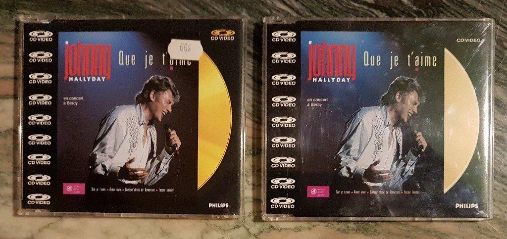 CD VIDEO JOHNNY HALLYDAY ( SERIE DE 5 )( 1985 - 1988 ) 210306080046166504