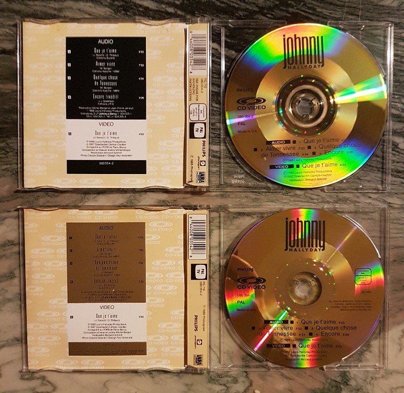 CD VIDEO JOHNNY HALLYDAY ( SERIE DE 5 )( 1985 - 1988 ) 21030608123917227