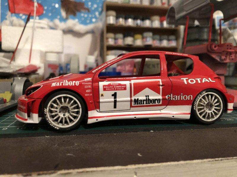 206 WRC 03,Gronholm-Rautianen,  Rallye San Remo, Tamiya 1/24 210308014000921411
