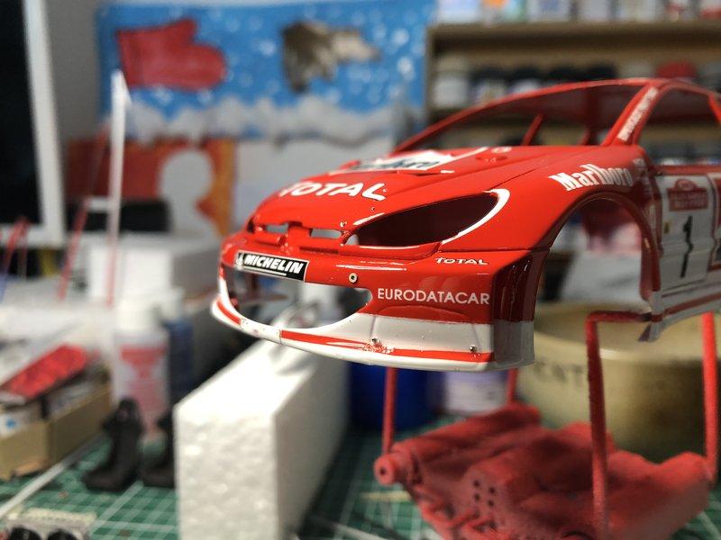 206 WRC 03,Gronholm-Rautianen,  Rallye San Remo, Tamiya 1/24 210308014002834391