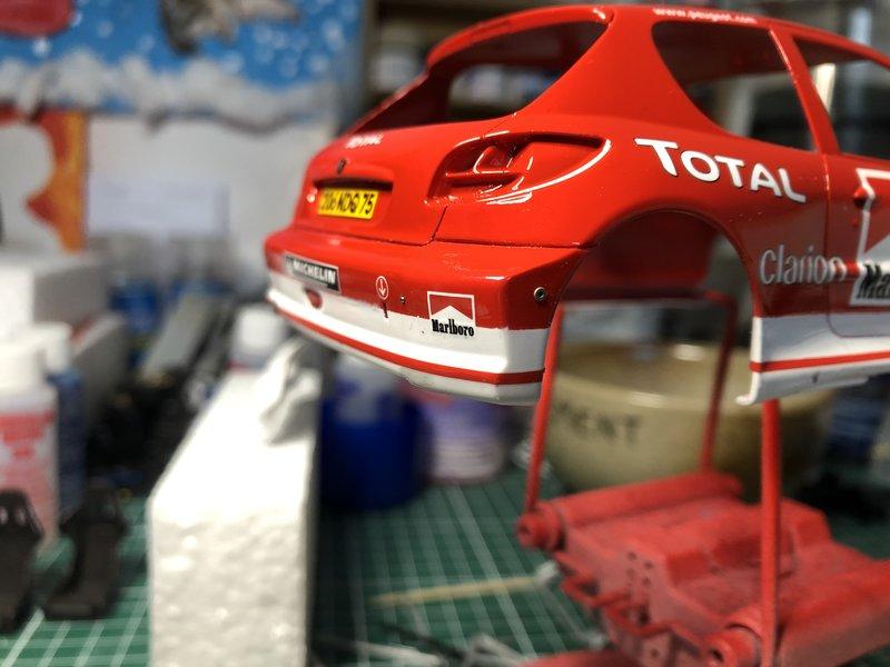 206 WRC 03,Gronholm-Rautianen,  Rallye San Remo, Tamiya 1/24 210308014003663101