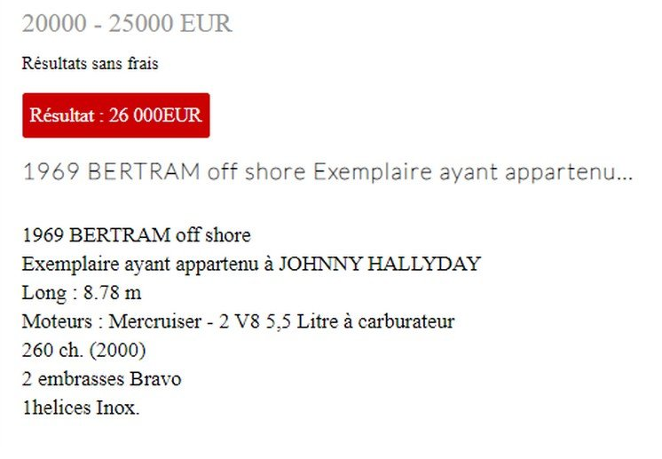 LES BATEAUX DE JOHNNY HALLYDAY 'BERTRAM' ( 1975 ) 210315074002459817