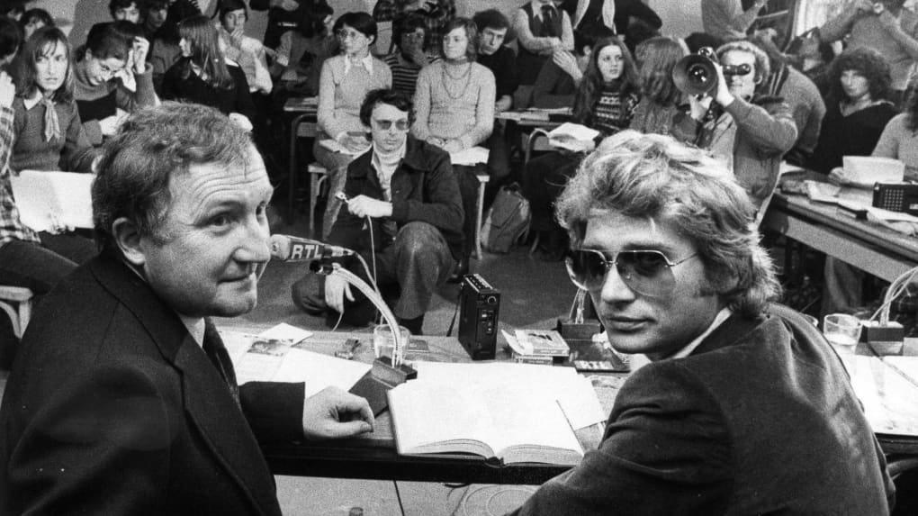 3 février 1977-Johnny Hallyday a Tours au lycée Grandmont