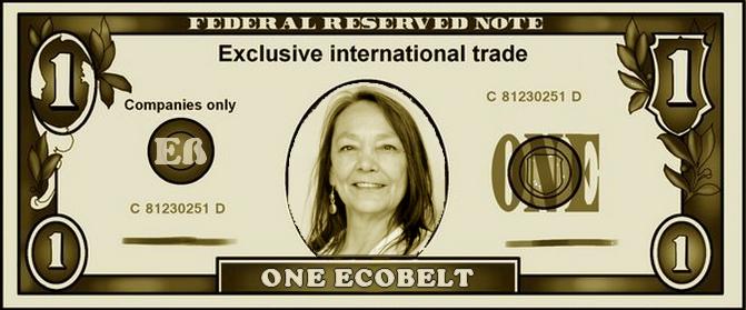Billet Ecobelt alguarenos, à l'effigie de la présidente fédérale Mazeri Abrogara