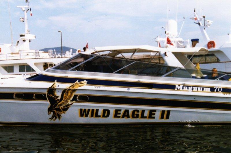 LES BATEAUX DE JOHNNY HALLYDAY 'WILD EAGLE II' ( 1995 ) 210319052008711286