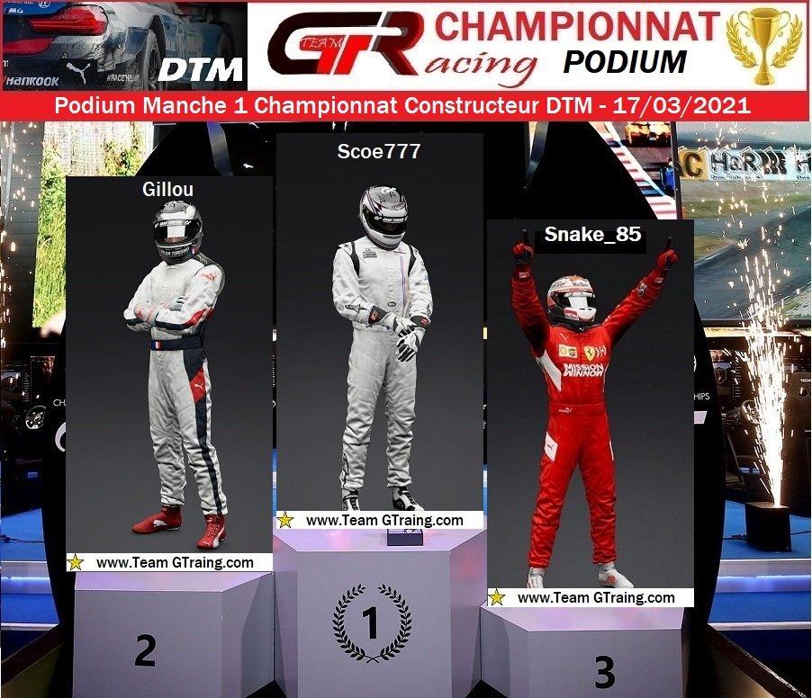 Résultat Manche 1 du Championnat Constructeur DTM - 17/03/2021 21031906202438171
