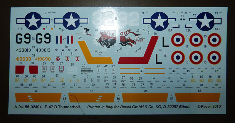 Montage chrono [REVELL] REPUBLIC P 47D-30 THUNDERBOLT du NeuNeu 1/72ème  Réf 04155 210320112935543438