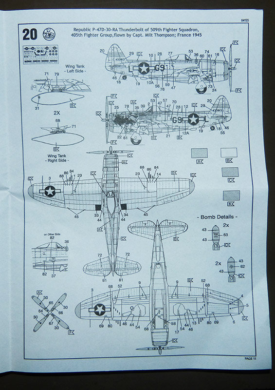 Montage chrono [REVELL] REPUBLIC P 47D-30 THUNDERBOLT du NeuNeu 1/72ème  Réf 04155 210320112936866838