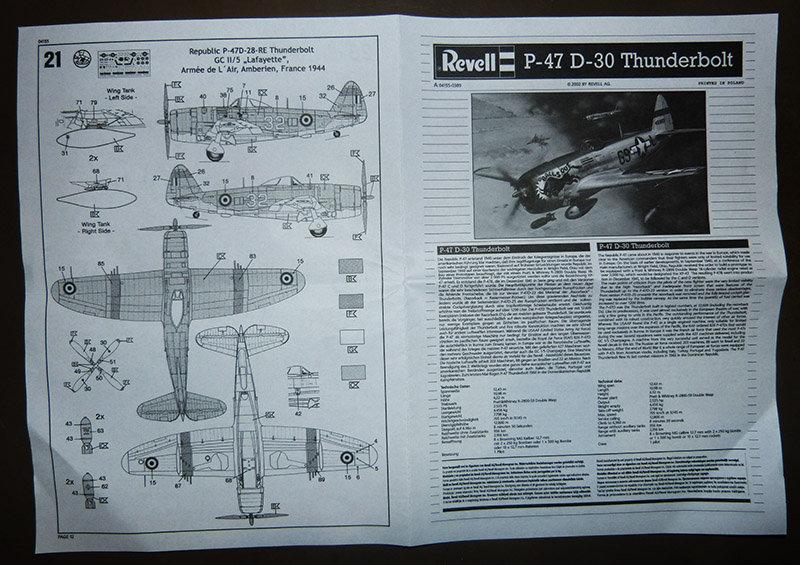 Montage chrono [REVELL] REPUBLIC P 47D-30 THUNDERBOLT du NeuNeu 1/72ème  Réf 04155 210320112937119170