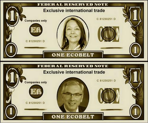 Billets Ecobelts à l'effigie des présidents signataires