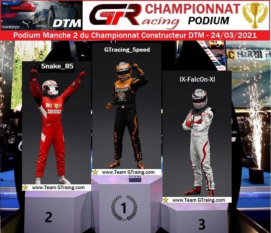 Résultat Manche 2 du Championnat Constructeur DTM - 24/03/2021 210326040937537789
