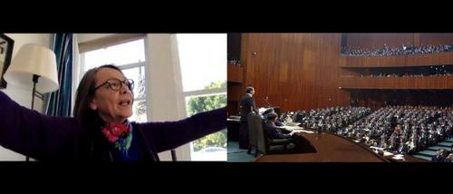 La présidente fédérale Mazeri Abrogara, bousculée par l'assemblée parlementaire.