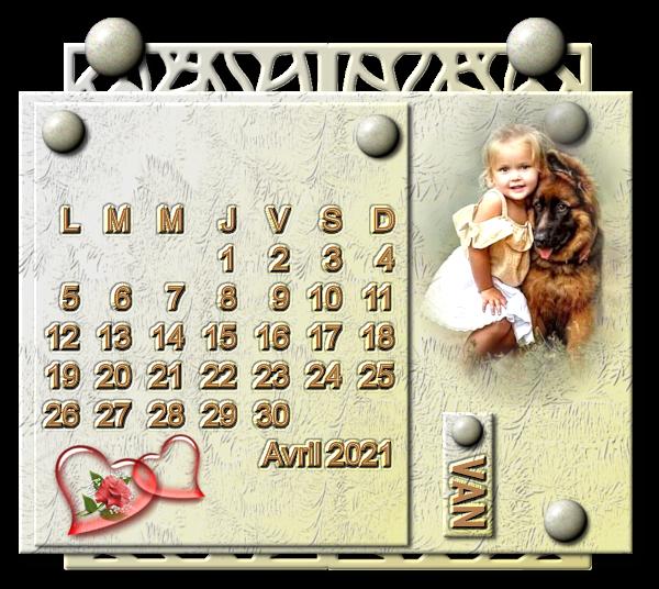 Calendrier Avril 2021 Tipi 600 Pixels